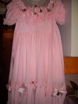 Детское праздничное розовое платье на девочку 6-8 лет в Москве Фото 5