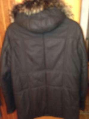 Куртка кожаная коричневого цвета в г. Киев Фото 2