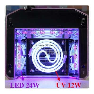 Лампа для сушки ногтей CCFL + LED с таймером Бриллиант 36 ВТ