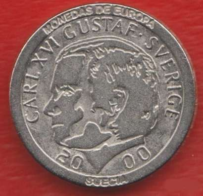 Испания Жетон Швеция 1 крона 2000 г.
