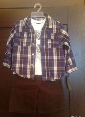 Комплект джинсы, рубашка, футболка