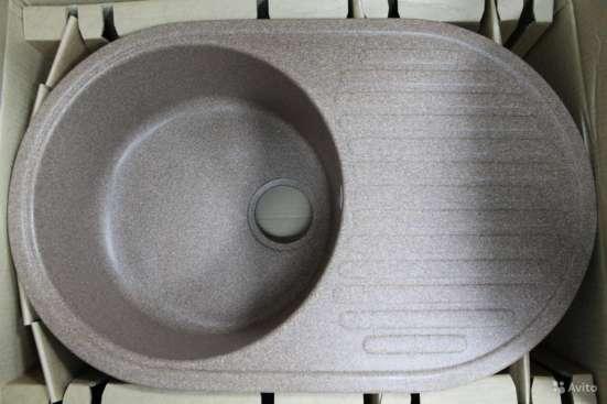Продажа кухонных моек из искусственного камня U-107 в г. Астана Фото 1