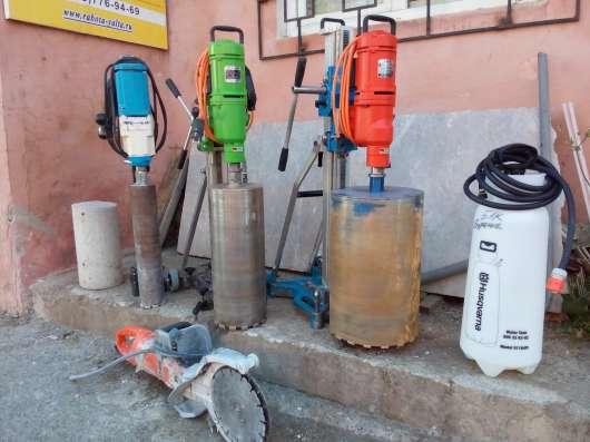 Алмазное бурение и резка бетона (без пыли и долбления)