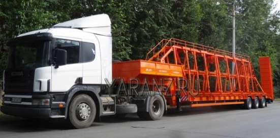 Панелевоз на базе трала 40 тонн, 11 метров со съемной фермой для перевозки панелей.