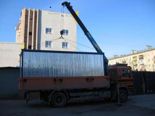 Перевозка строительных бытовок  манипулятором Спб