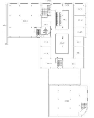 Площадь на втором этаже