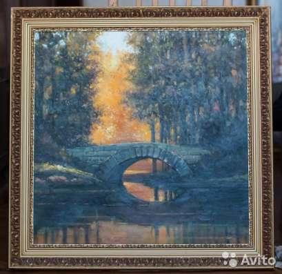 Картина маслом на холсте с багетом (дерево)