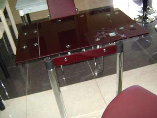 Стеклянные обеденные и журнальные столы. Широкий ассортимент!