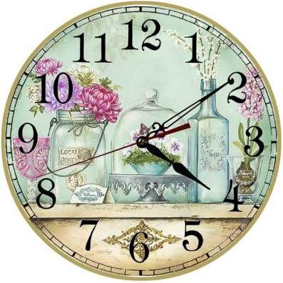 Часы в стиле прованс и шебби-шик