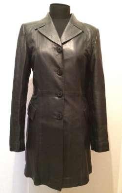 Пиджак кожаный женский, б/у