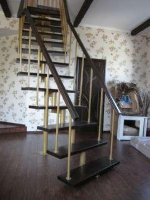 Металлическая интерьерная лестница в Барнауле Фото 1