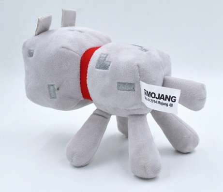 Мягкая игрушка Волк из Майнкрафт