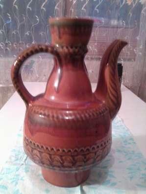 Кувшин обливная керамика большой СССР
