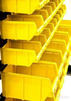 Складской лоток 250х150х130 желтый.