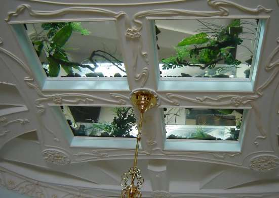 Стеклянные и зеркальные потолки в г. Караганда Фото 2