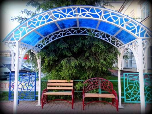 Беседка в сад оригинальная, металлическая в Бердске Фото 1